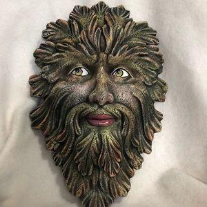 Green Man Mask Wall Hanging